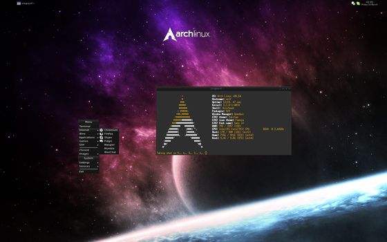 Arch Linux 2012-03-16 by Paaskehare