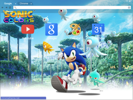 Sonic Colors Chrome Theme (1024x768) by Natakiro