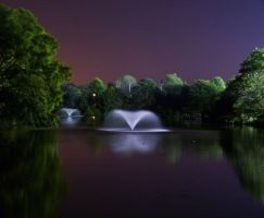 Fountain At Night by marta314