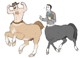 Taur Fortress 2 - Saxton Hale and Bidwell by Linda065cliva