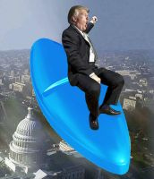 Trump Riding the Viagra Bomb by vincegotera
