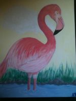 What you don't paint flamingos? by Filly8