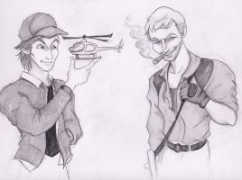 Mad Murdock and Hannibal Smith by BewitchedCat