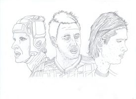 Cech, Terry, and Torres by OscarChavez