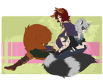 The story of a squirrel and a racoon by xVenomousVanni