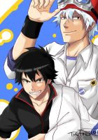 Bossun and Gintoki by TheFresco