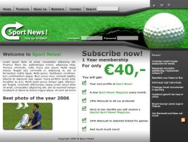 Sport News Website v3.0 by thierry-eamon