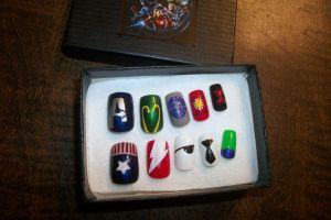 Avengers Nails by TheUnknownAssassin