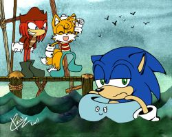 Team Sonic to the ADVENTURE by lunaticpaw