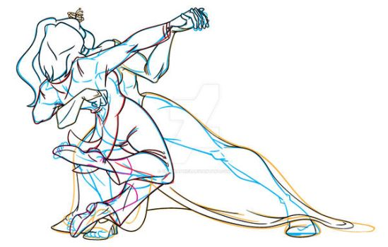 Korrasami Wedding Lineart Buildup by chbgraphics