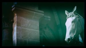 ...a horse inside a church... by Ulliart