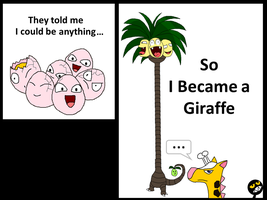 Exeggcute wants to be a Giraffe...