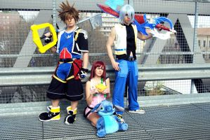 KH:Destiny Island Trio by kura-and-something
