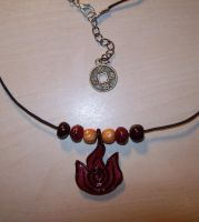 Firebending Necklace Style 2 by HIDDENintheIVY