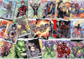 Marvel Masterpieces sketch cards by toonfed