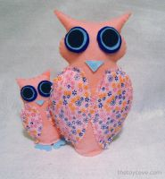 Mom and Baby Owl Plush by WeAreSevenStudios