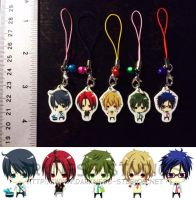 Free! (anime) Mini Plastic Charms by gumokohiiragizawa