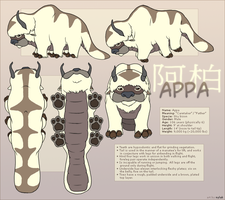 Avatar : Appa Reference Sheet by Nylak