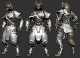 Werewolf Soldier Armor WIP1 by NBQuaternion