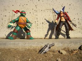 Raphael VS Dante by PokepictureFigurefun