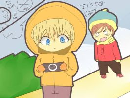 Kenny's PSP by steffanny