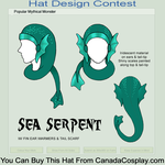 Contest Entry- Sea Serpent Hat by CraftyWingy