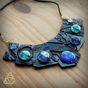 Stardust necklace. Nebula.Andromeda.Galaxy.Space. by Nad-in