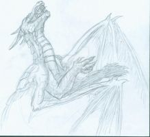 Dragon Sketch by cactuarZrule