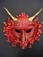 Fire Dragon Mask by merimask