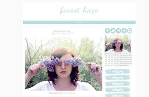 Forest Haze Blogger Template by candypow