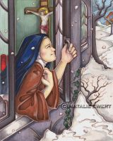 Saint Therese And The Snow by natamon