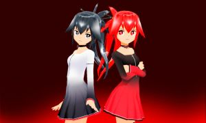 MMD Cul Black and Red by Aisuchuu