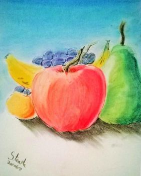 Pastel fruit drawing. by SulaimanDoodle