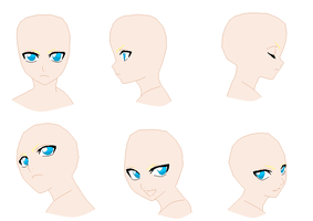 Profile Faces - Bald by Sakura-chan966