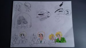 Doodles, Slightly Colored by SatansFantasticSons