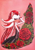 Black dress and Red rose by Silena-Chaos