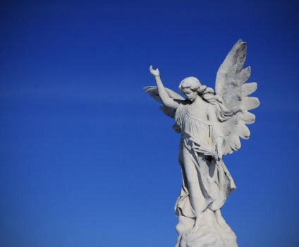 Angel statue by Sleepwalker-stock