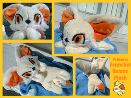 Fennekin Beanie Plush by methuselah-alchemist