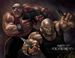 TMNT human Bebop n Rocksteady by RayDillon