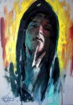 Hooded selfportrait by nailone