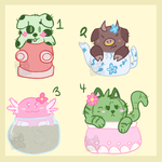 Cactipum Adoptables - 3/4 open by hairykittykat