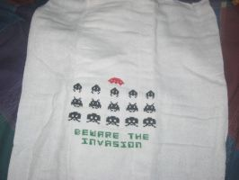 Space Invaders Baby Towel by Craftigurumi