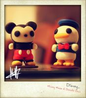Mickey Mouse and Donald Duck by Macherz