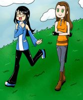 Walking with a friend by Hishimy