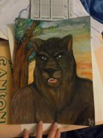 Real painting: The Panther by blaxyd