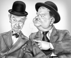 Laurel and Hardy by adavis57