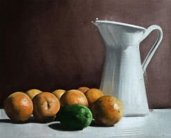 Still Life - Oranges by CoffeeAndMarkers