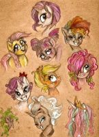 MLP: Bad Hair Day Doodles by Arnne