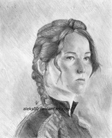Jennifer Lawrence as Katniss Everdeen by Aleks00