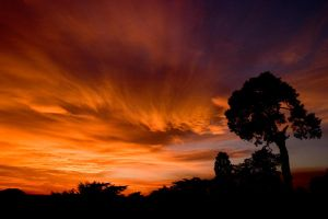 sunset at Warwick Castle by Andrew-and-Seven